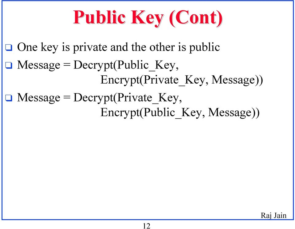 Encrypt(Private_Key, Message)) Message =