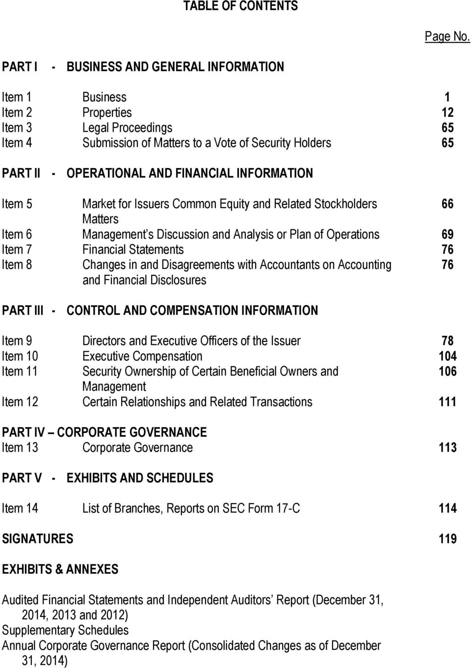 FINANCIAL INFORMATION Item 5 Market for Issuers Common Equity and Related Stockholders 66 Matters Item 6 Management s Discussion and Analysis or Plan of Operations 69 Item 7 Financial Statements 76