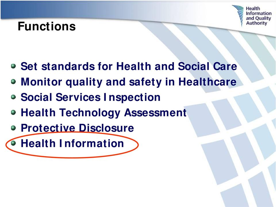 Social Services Inspection Health Technology