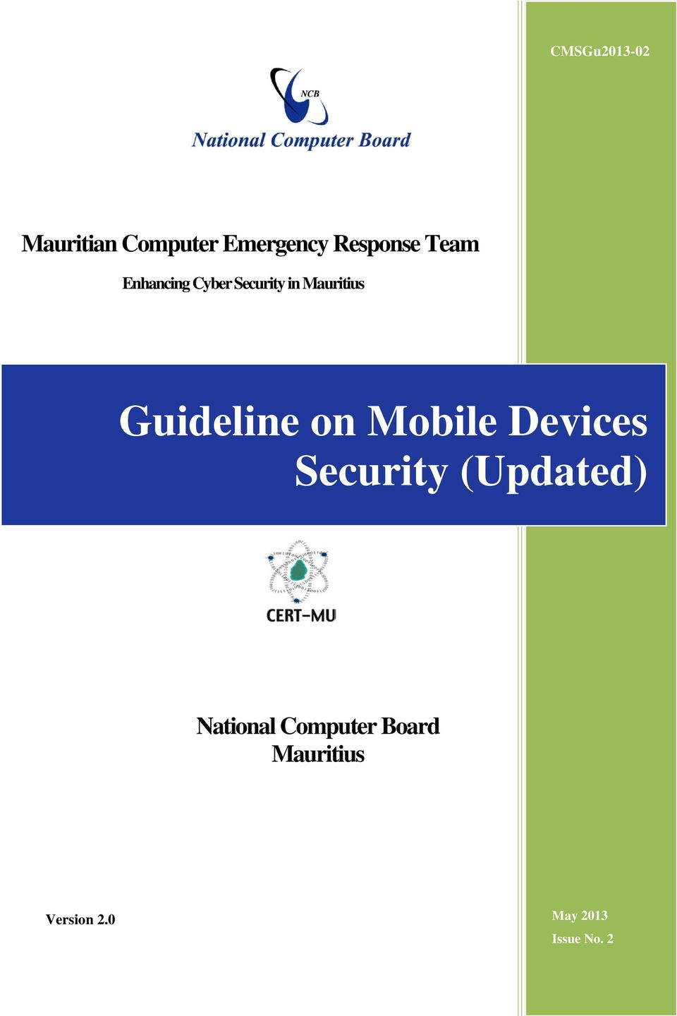 Guideline on Mobile Devices Security (Updated)