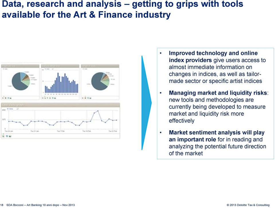 indices Managing market and liquidity risks: new tools and methodologies are currently being developed to measure market and liquidity
