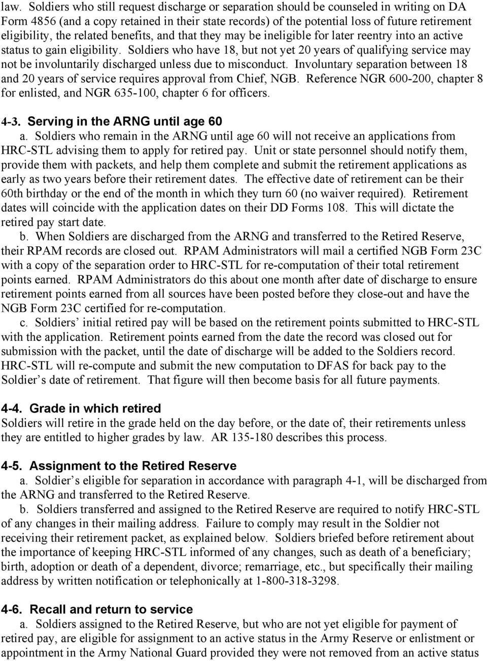 Army National Guard Information Guide On Non-Regular Retirement - PDF