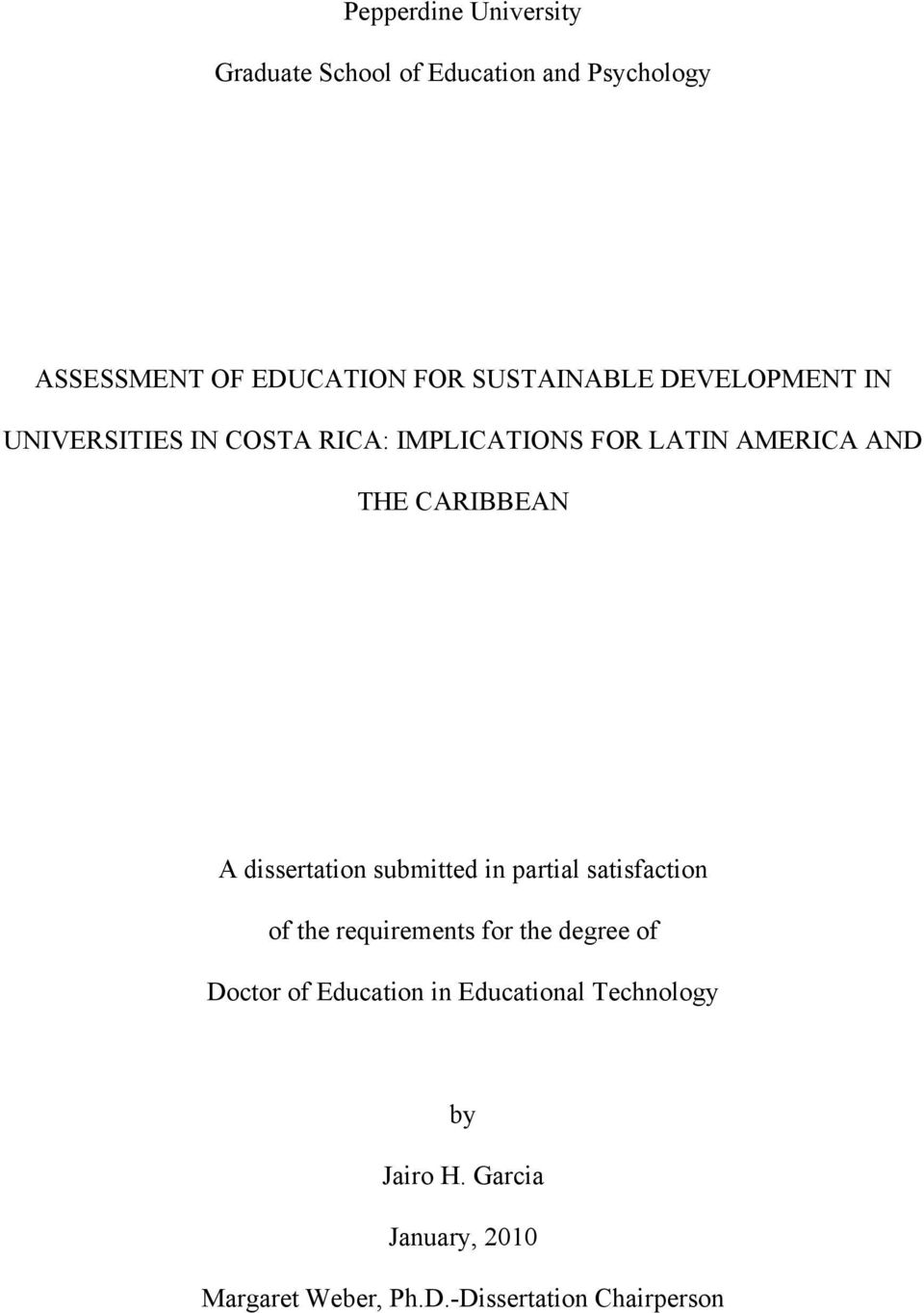 CARIBBEAN A dissertation submitted in partial satisfaction of the requirements for the degree of