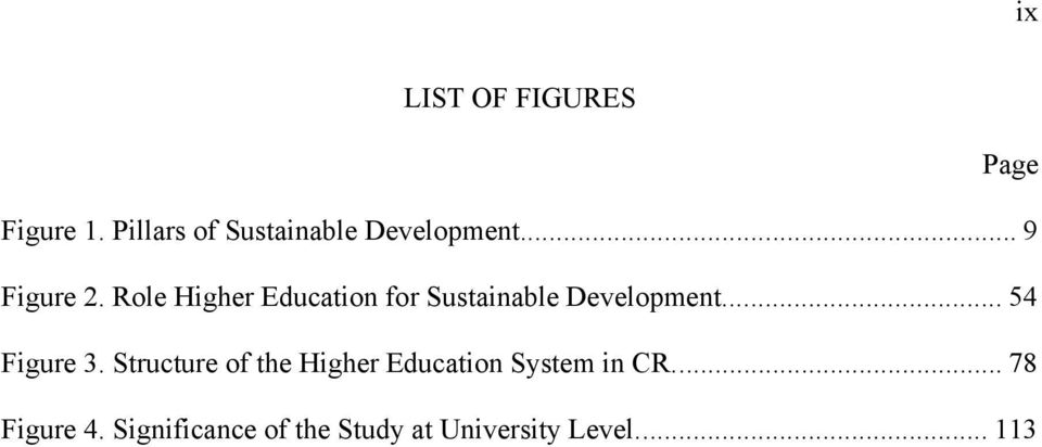 Role Higher Education for Sustainable Development... 54 Figure 3.