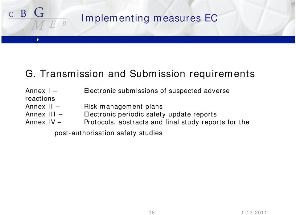 suspected adverse reactions Annex II Risk management plans Annex III