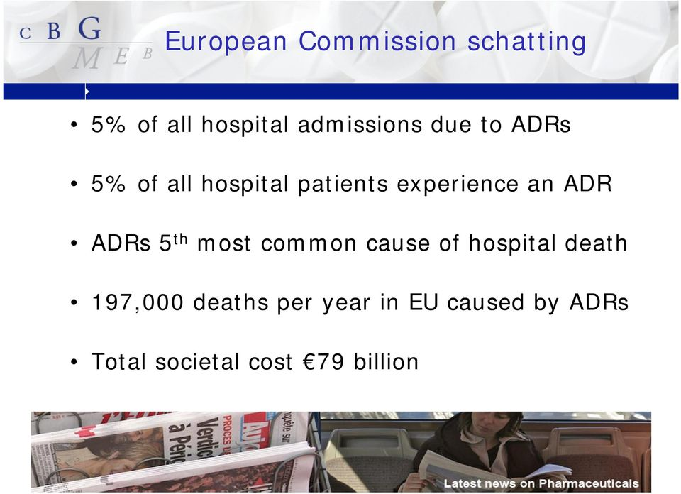ADRs5 th most common cause of hospital death 197,000 deaths