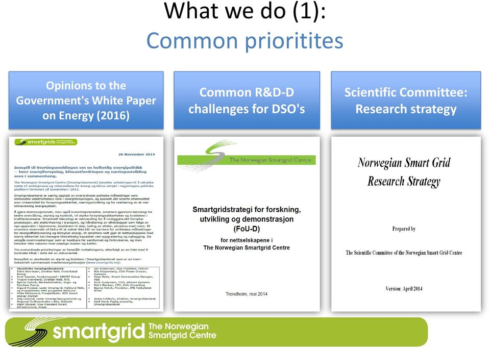 on Energy (2016) Common R&D-D challenges