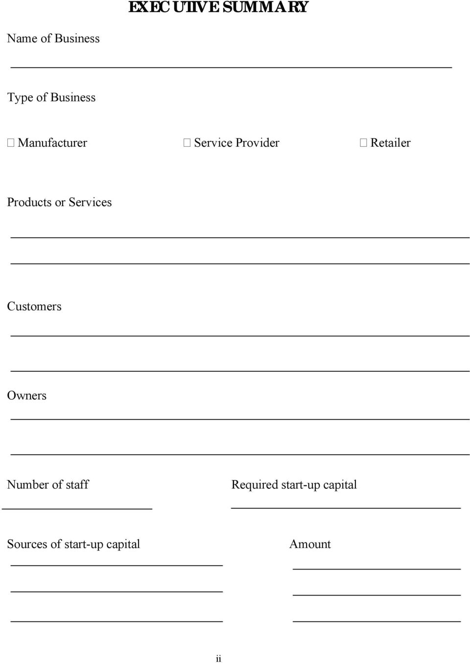 Services Customers Owners Number of staff Required