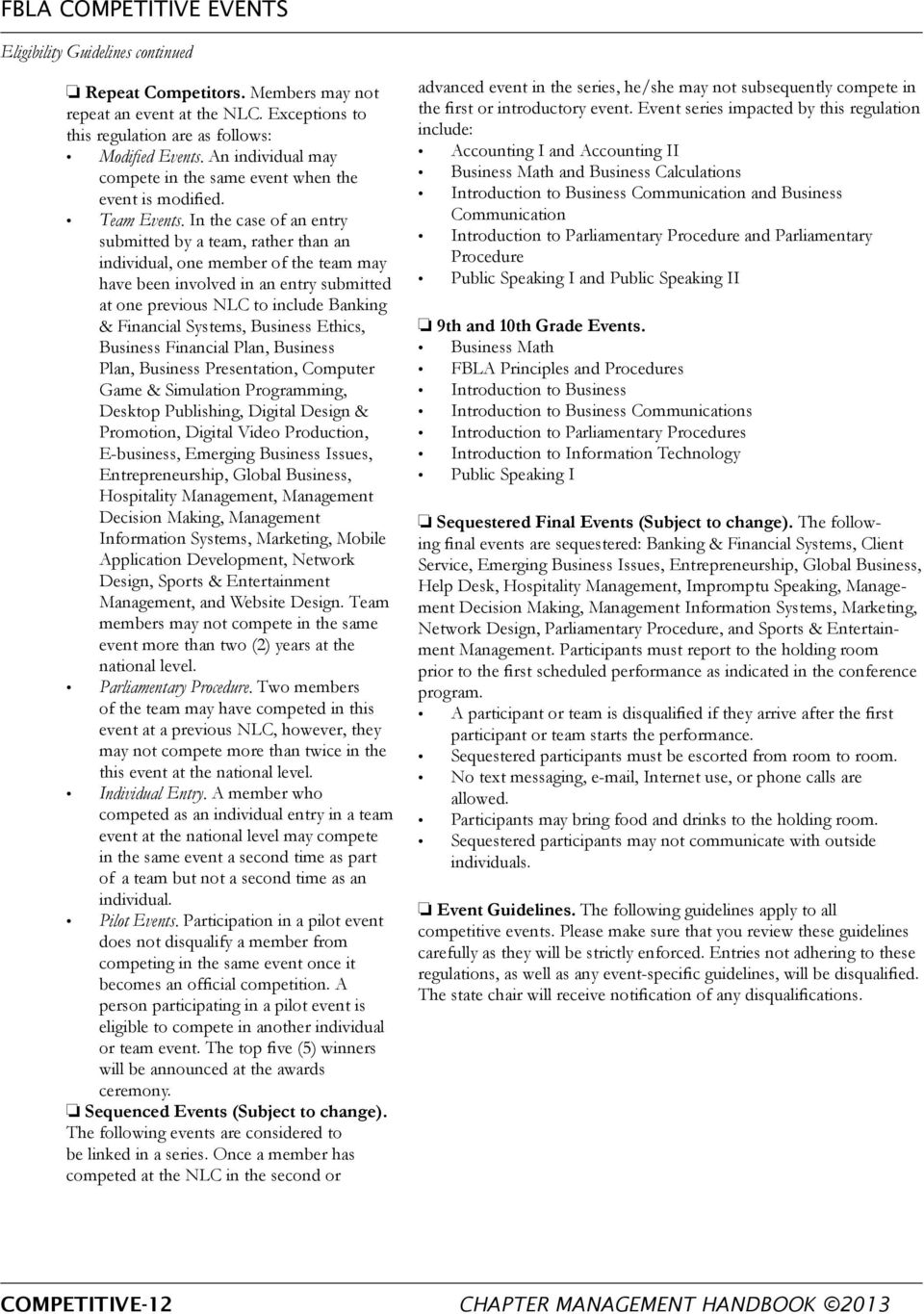 fbla principles and procedures study guide high school