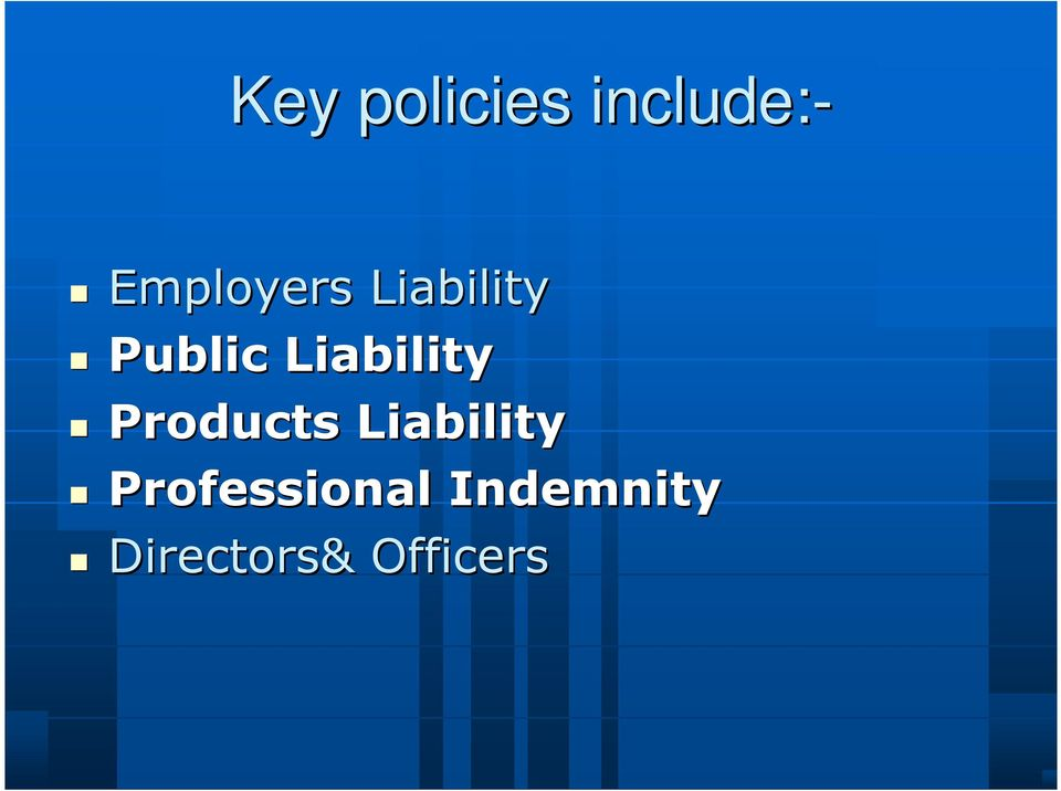 Liability Products Liability