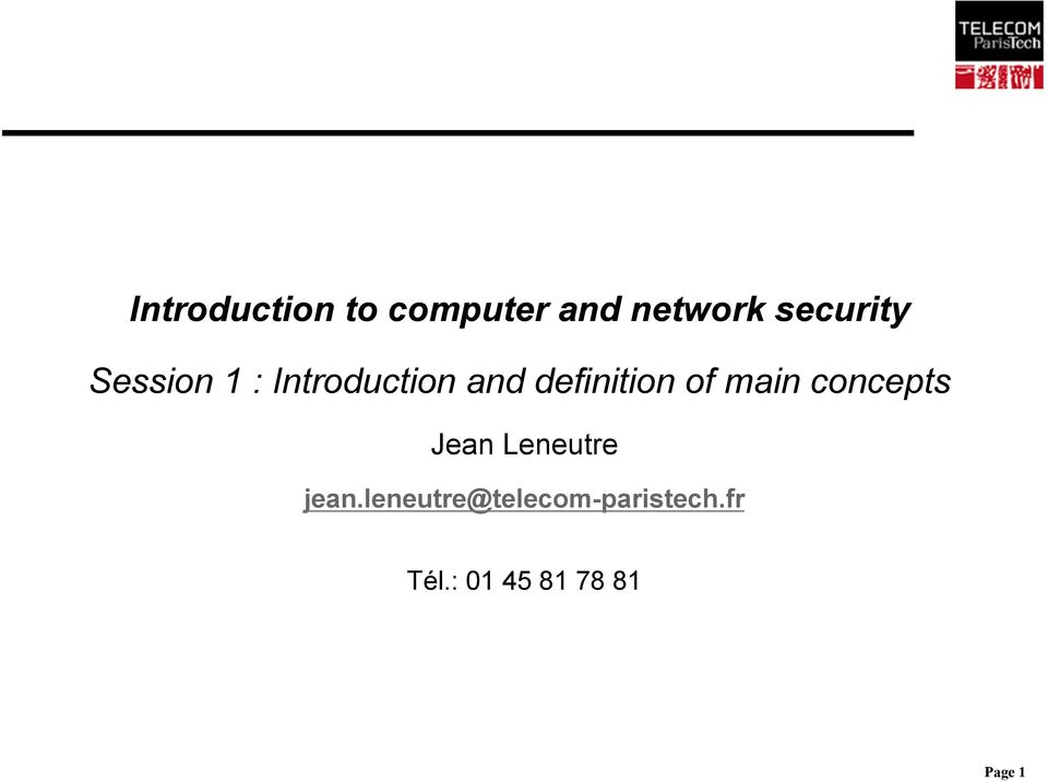 definition of main concepts Jean Leneutre