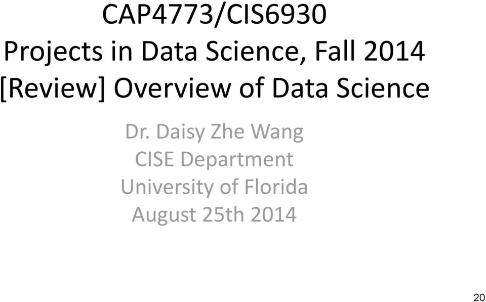 Data Science Dr.