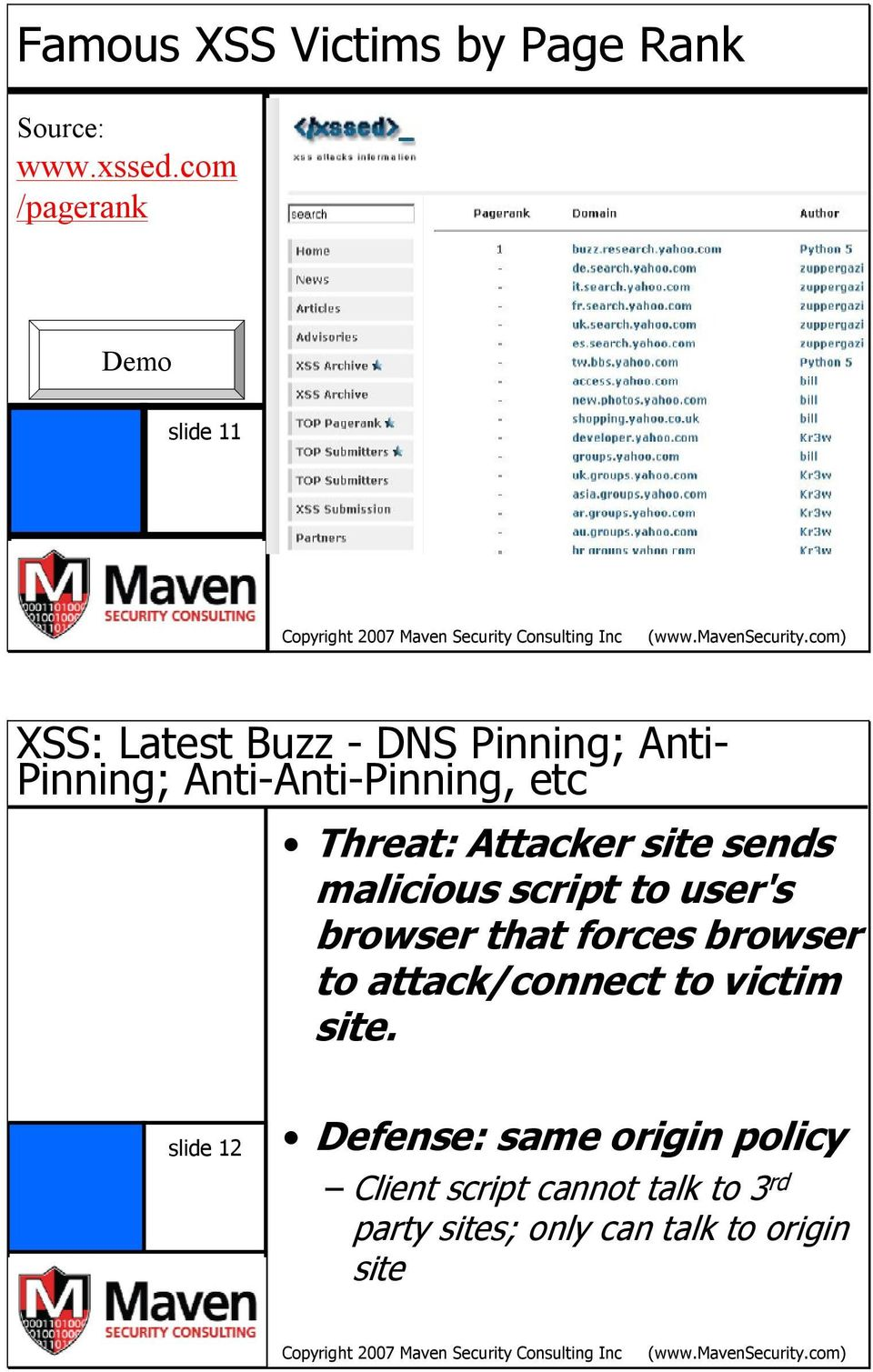 etc Threat: Attacker site sends malicious script to user's browser that forces browser to