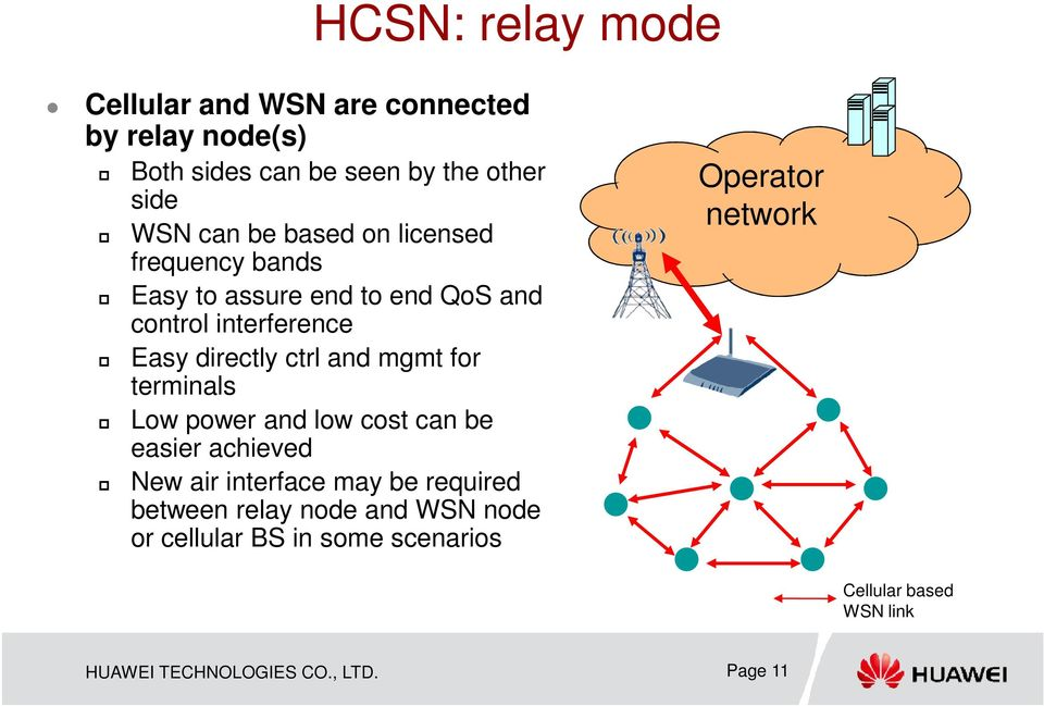 for terminals Low power and low cost can be easier achieved New air interface may be required between relay node and