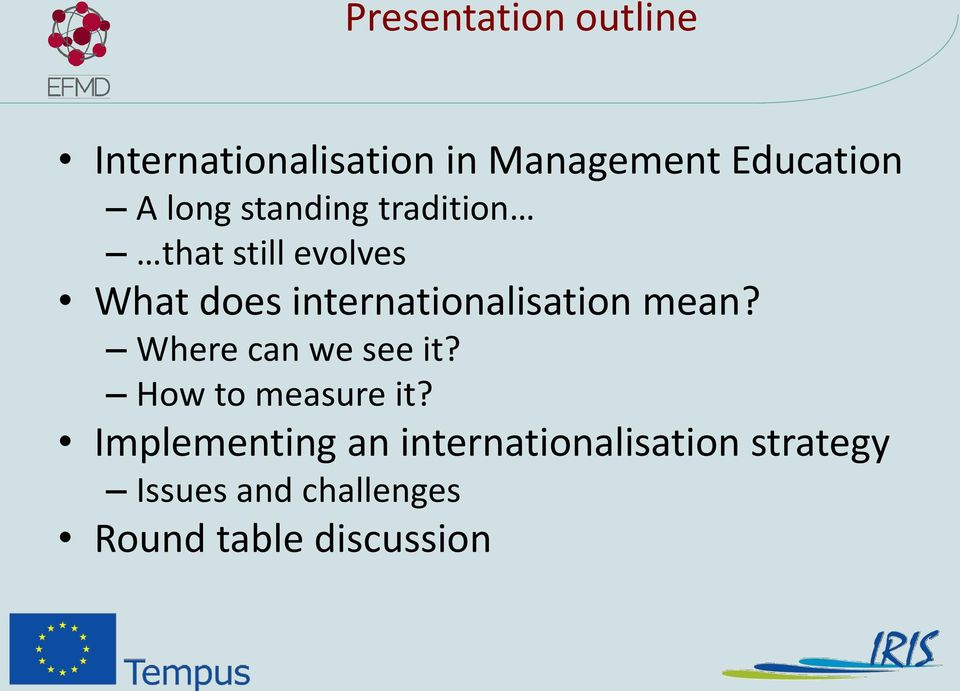 internationalisation mean? Where can we see it? How to measure it?