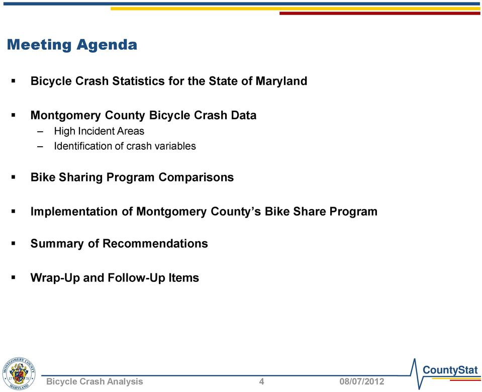 Bike Sharing Program Comparisons Implementation of Montgomery County s Bike Share