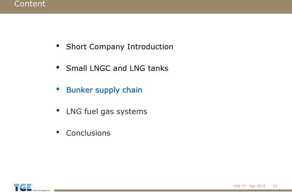tanks Bunker supply chain LNG