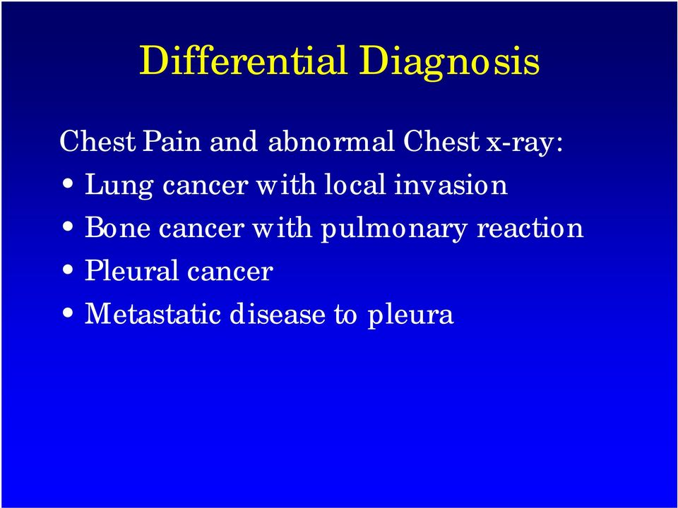 local invasion Bone cancer with pulmonary