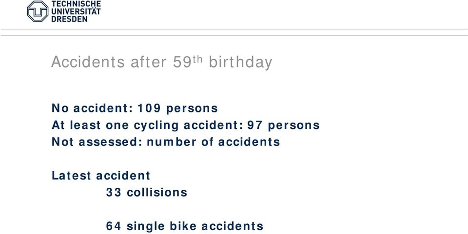 persons Not assessed: number of accidents