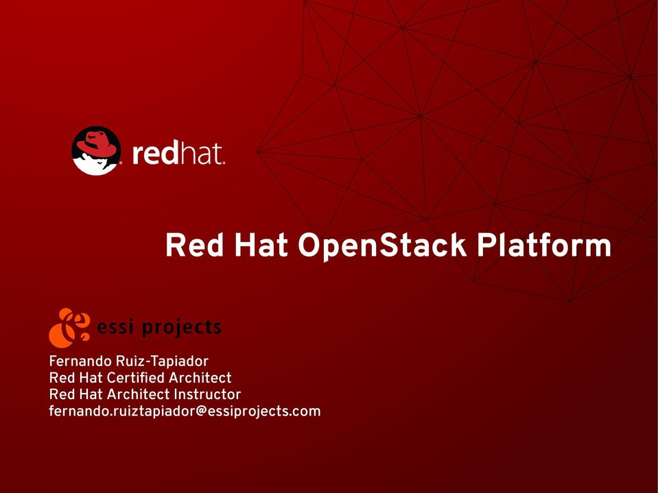 Architect Red Hat Architect