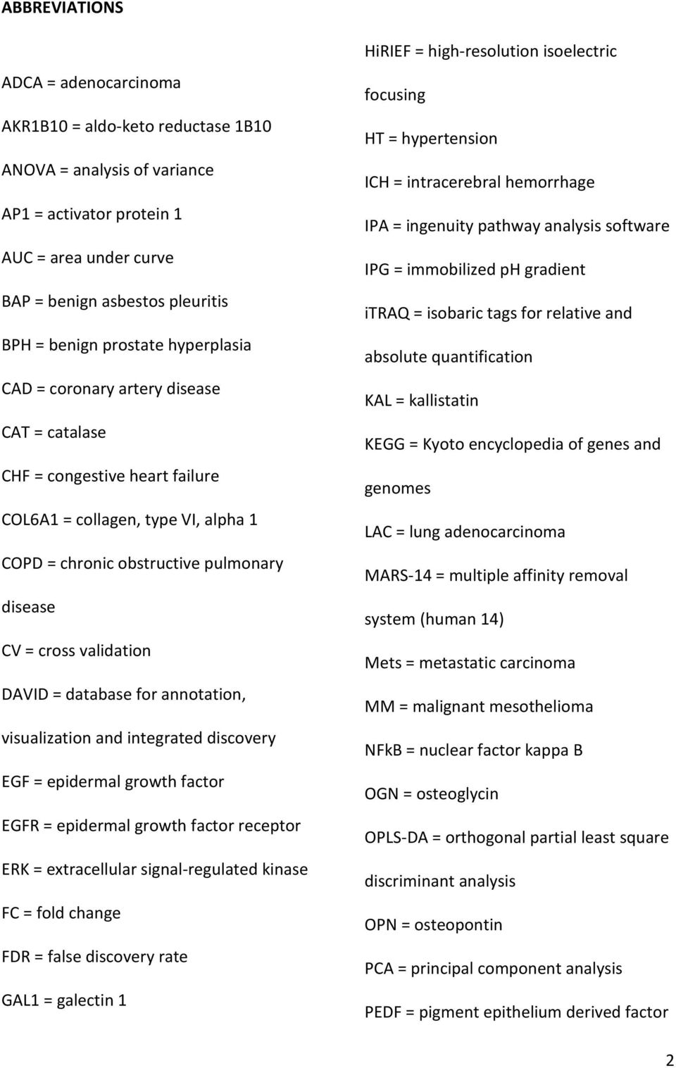 DAVID = database for annotation, visualization and integrated discovery EGF = epidermal growth factor EGFR = epidermal growth factor receptor ERK = extracellular signal-regulated kinase FC = fold