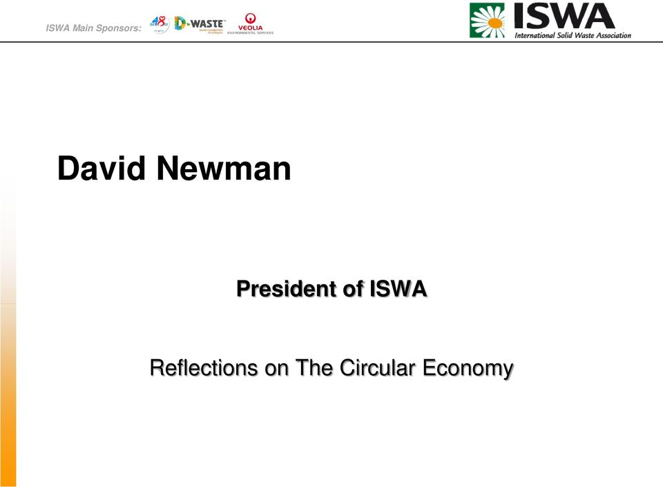President of ISWA