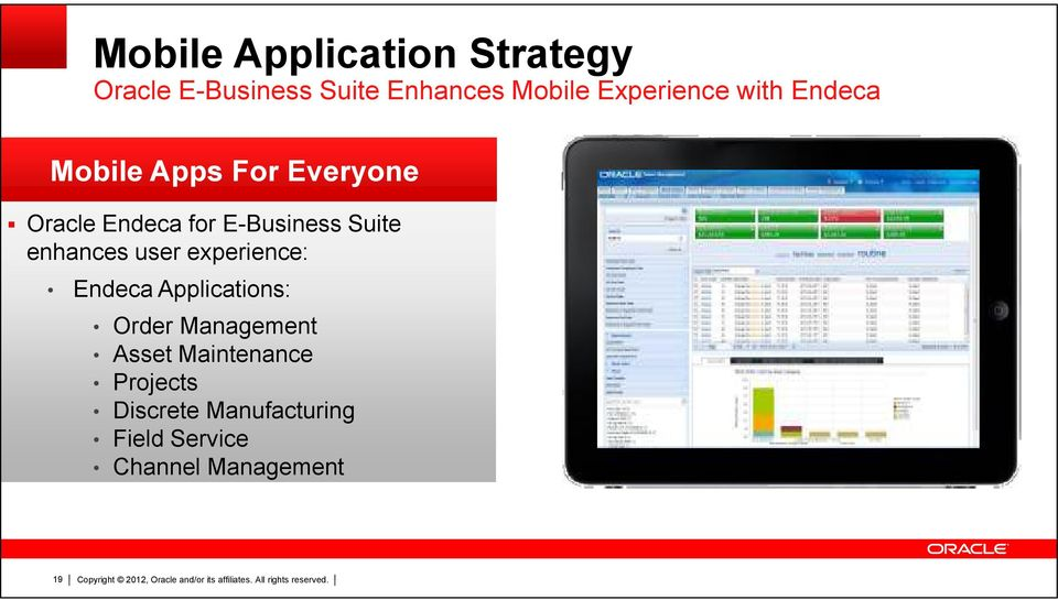 E-Business Suite enhances user experience: Endeca Applications: Order