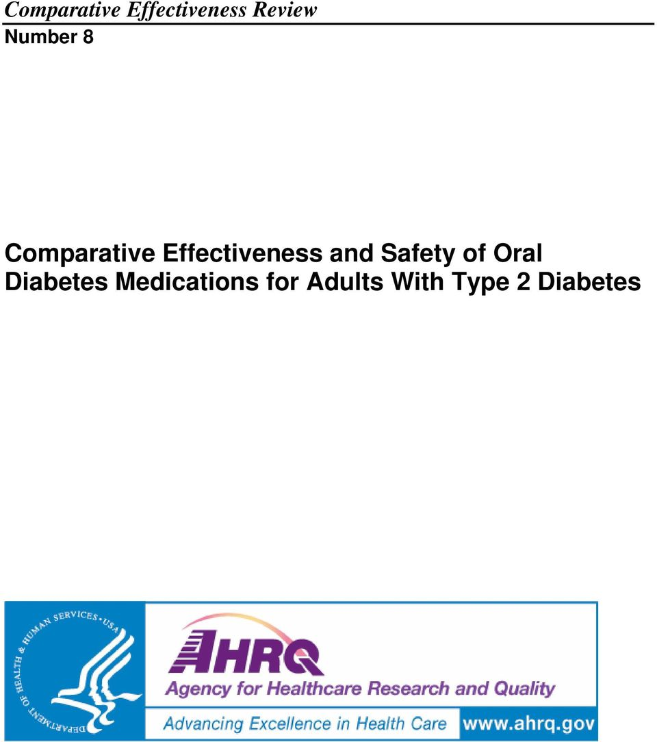 and Safety of Oral Diabetes
