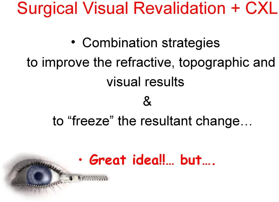 refractive, topographic and visual