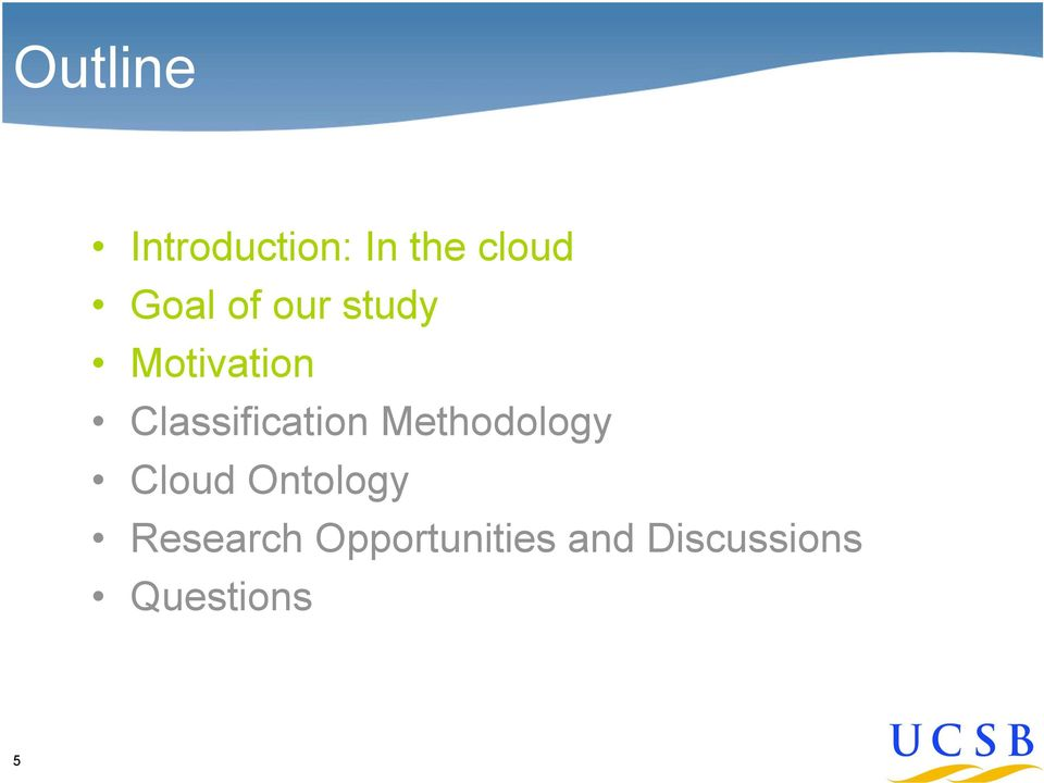 Classification Methodology Cloud