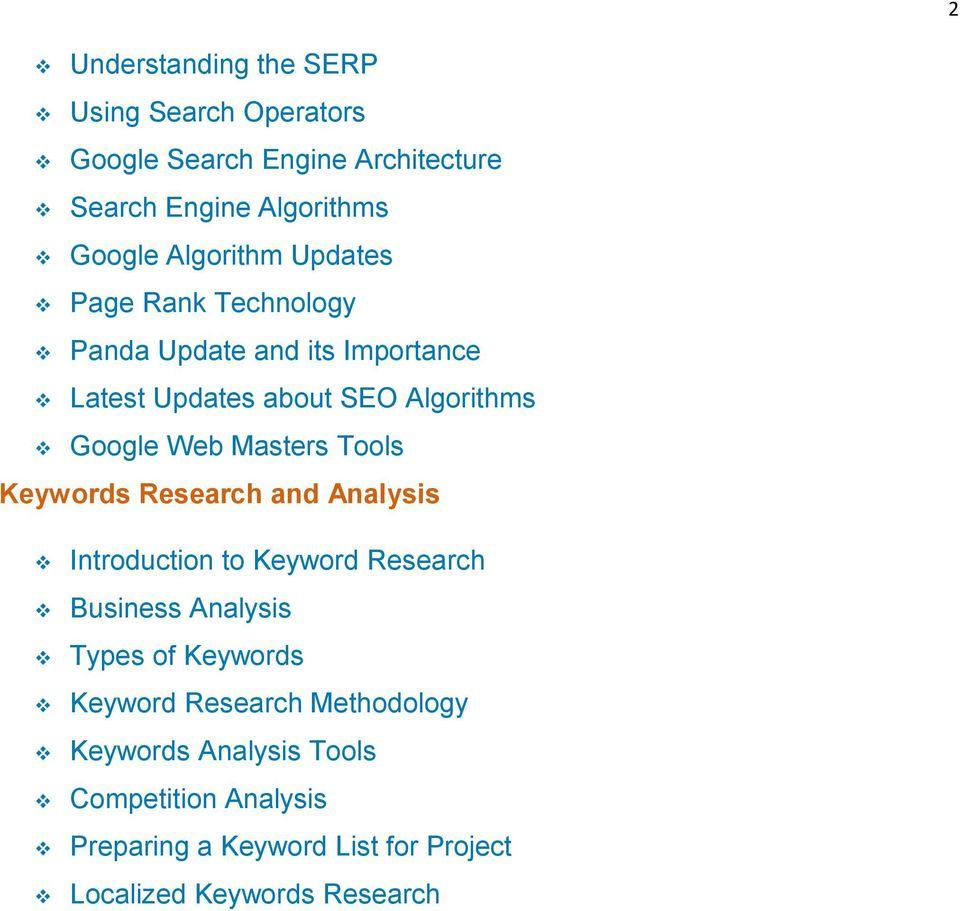 Masters Tools Keywords Research and Analysis Introduction to Keyword Research Business Analysis Types of Keywords