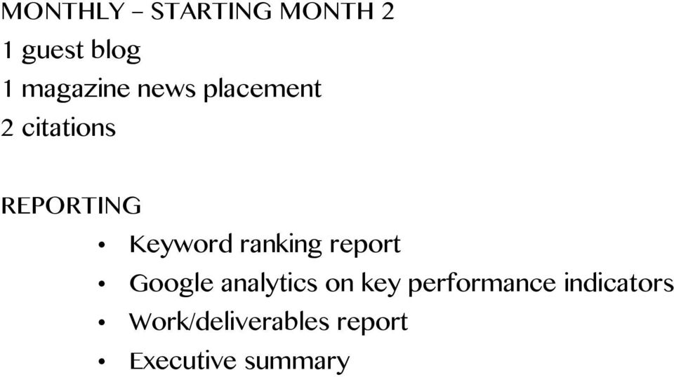 ranking report Google analytics on key