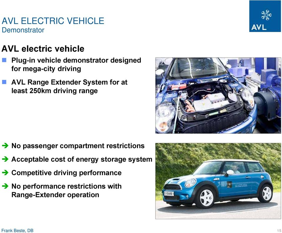 passenger compartment restrictions Acceptable cost of energy storage system