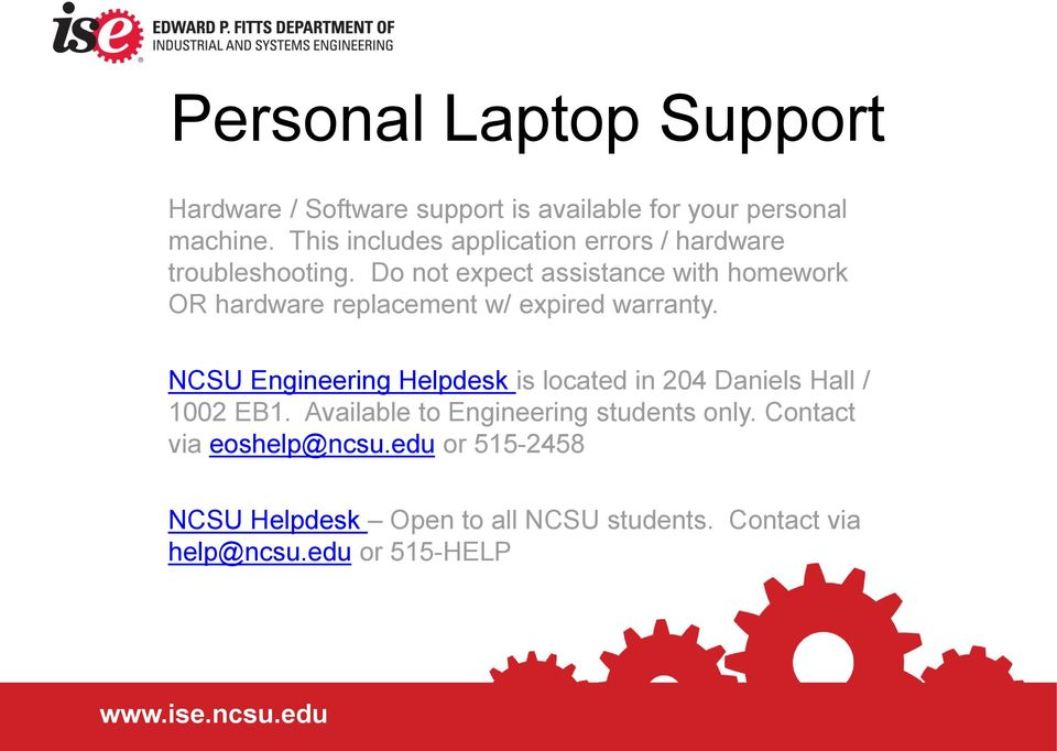 IT Resources at NCSU  ISE s 2 minute guide to NCSU s IT