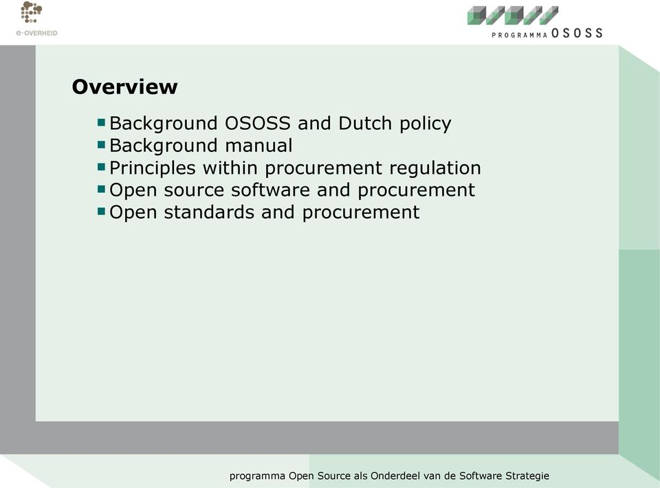 procurement regulation Open source