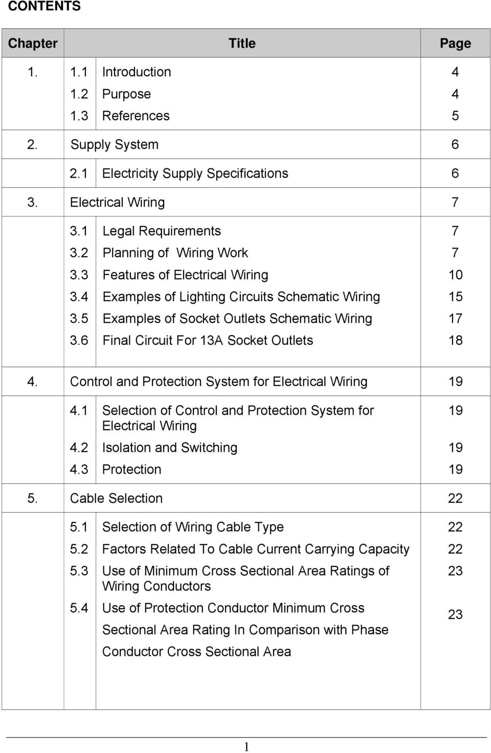 Guidelines for electrical wiring in residential buildings pdf control and protection system for electrical wiring greentooth Images