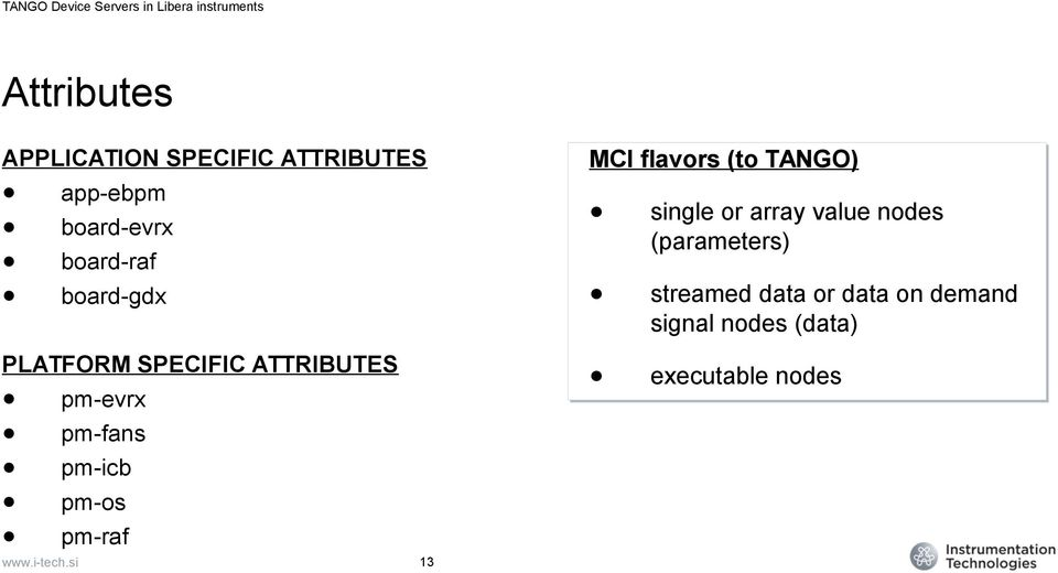 pm-icb pm-os pm-raf 13 MCI flavors (to TANGO) single or array value