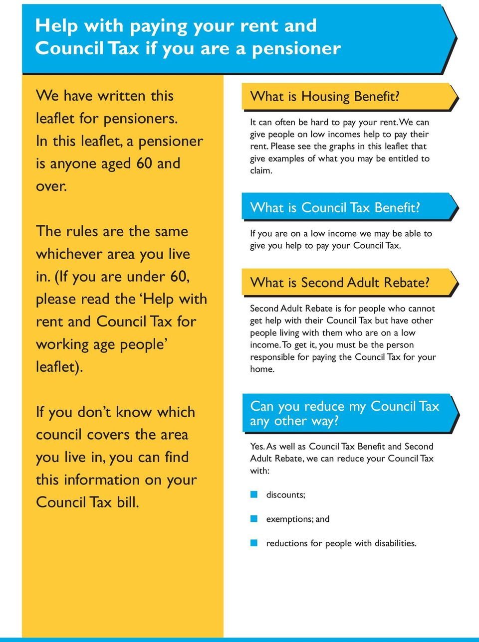 If you don t know which council covers the area you live in, you can find this information on your Council Tax bill. What is Housing Benefit? It can often be hard to pay your rent.