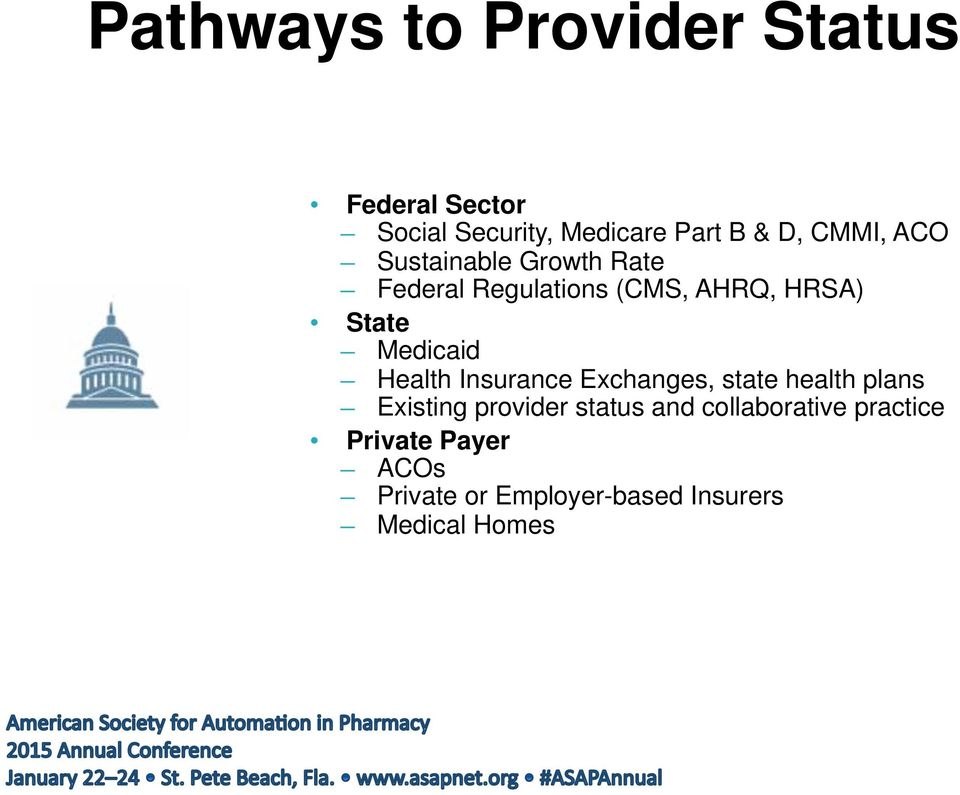 Medicaid Health Insurance Exchanges, state health plans Existing provider status and