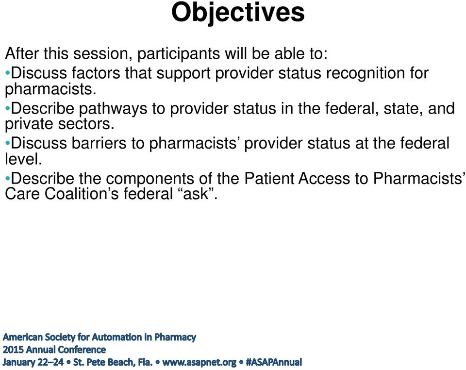 Describe pathways to provider status in the federal, state, and private sectors.