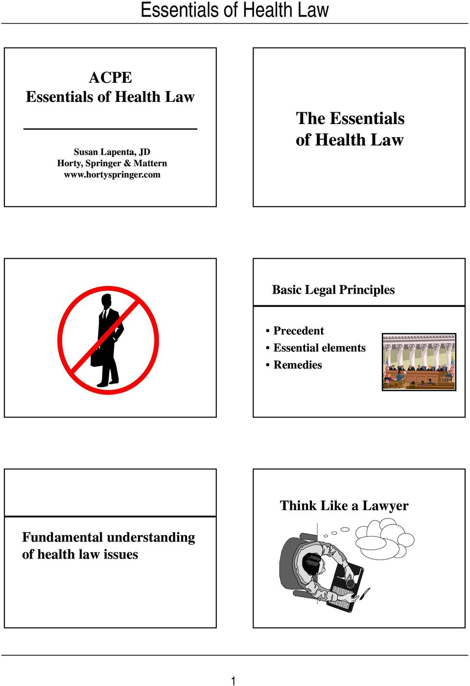 com The Essentials of Health Law Basic Legal Principles Precedent