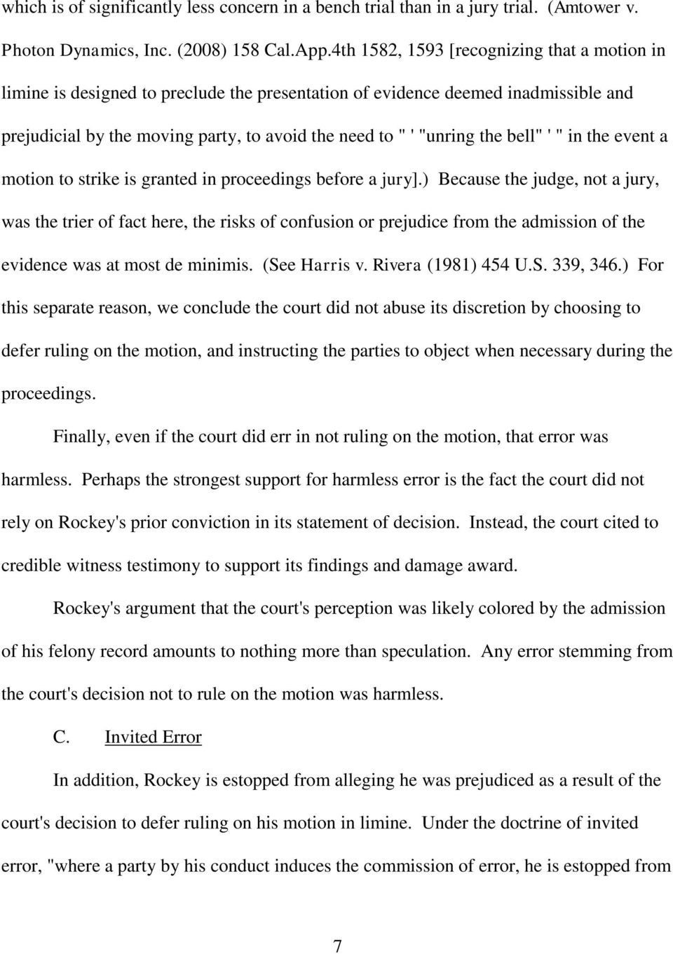 "bell"" ' "" in the event a motion to strike is granted in proceedings before a jury]."
