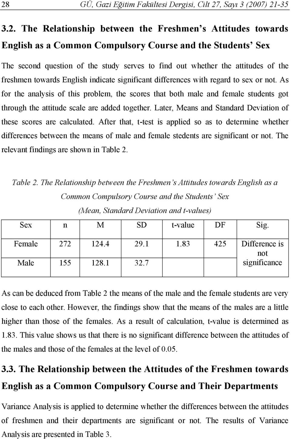 As for the analysis of this problem, the scores that both male and female students got through the attitude scale are added together.