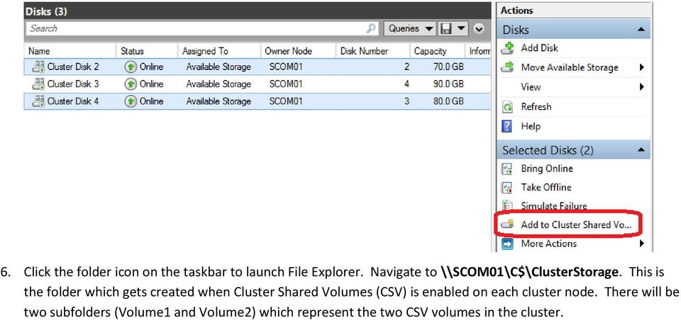This is the folder which gets created when Cluster Shared Volumes (CSV) is