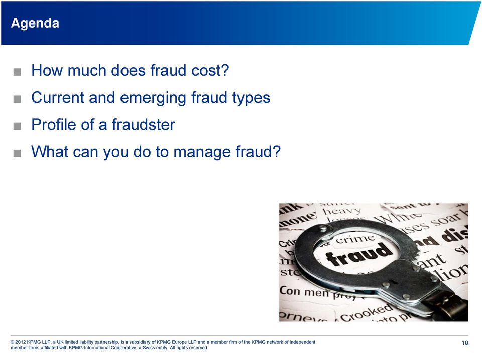 fraud types Profile of a