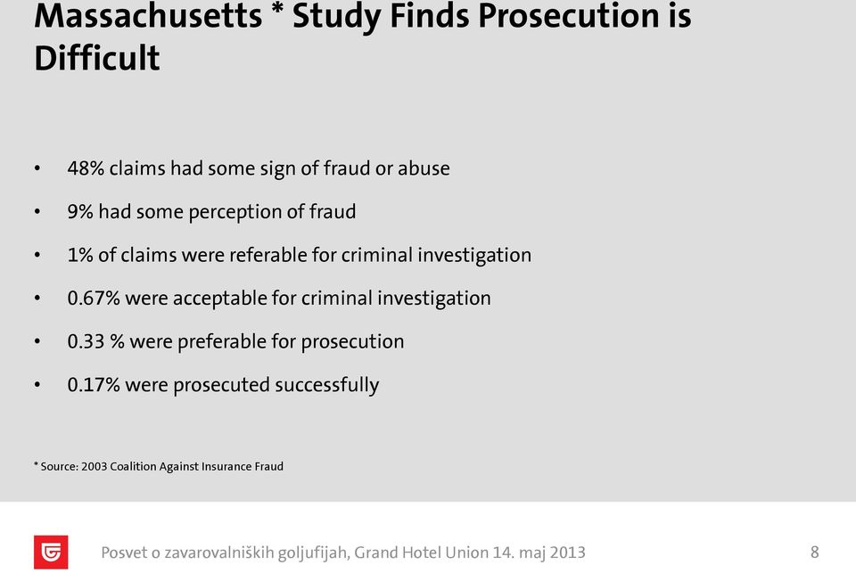 investigation 0.67% were acceptable for criminal investigation 0.