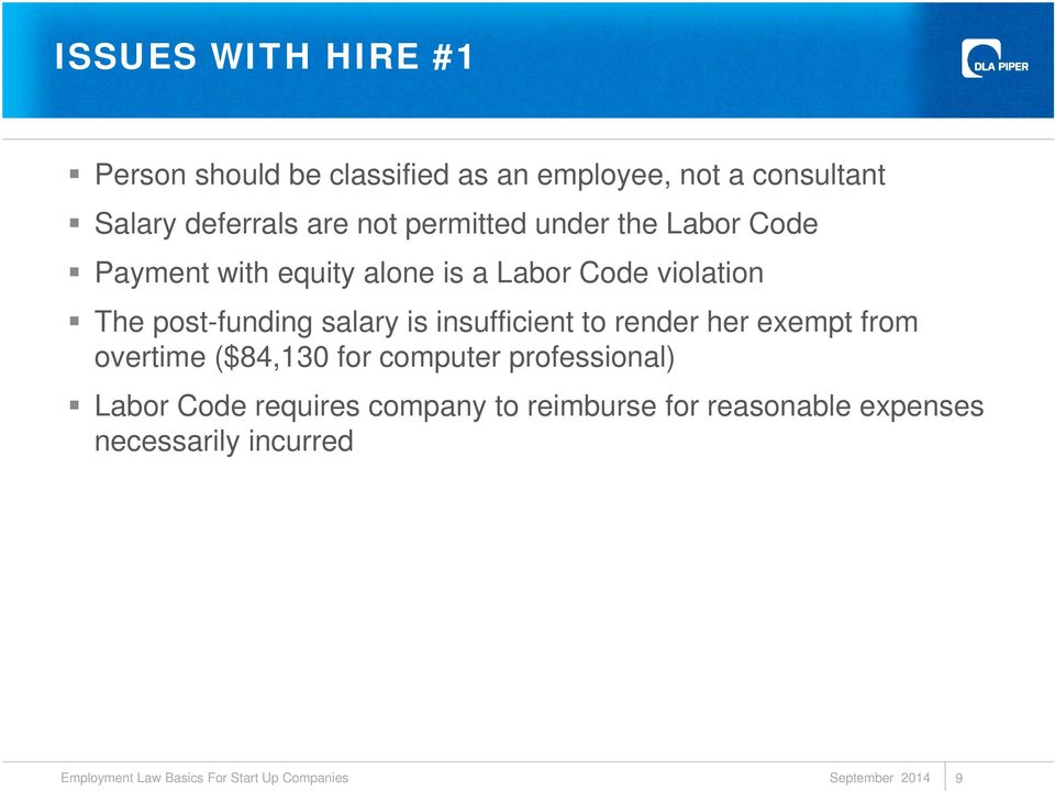 violation The post-funding salary is insufficient to render her exempt from overtime ($84,130