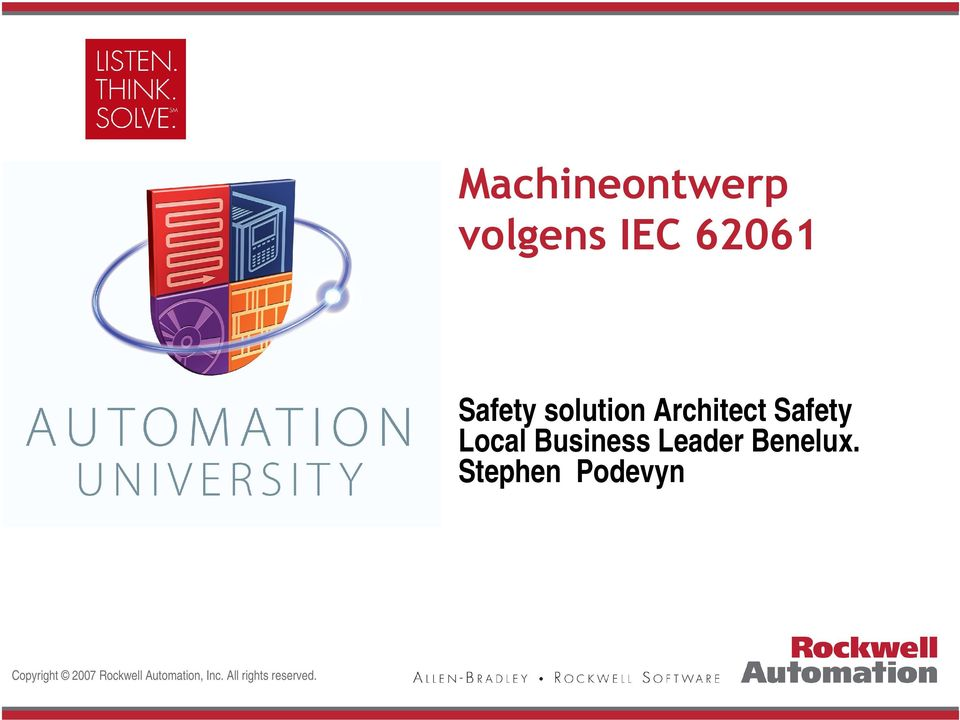 solution Architect Safety Local