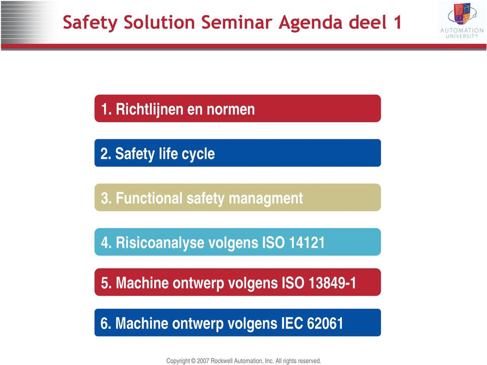 Functional safety managment 4.