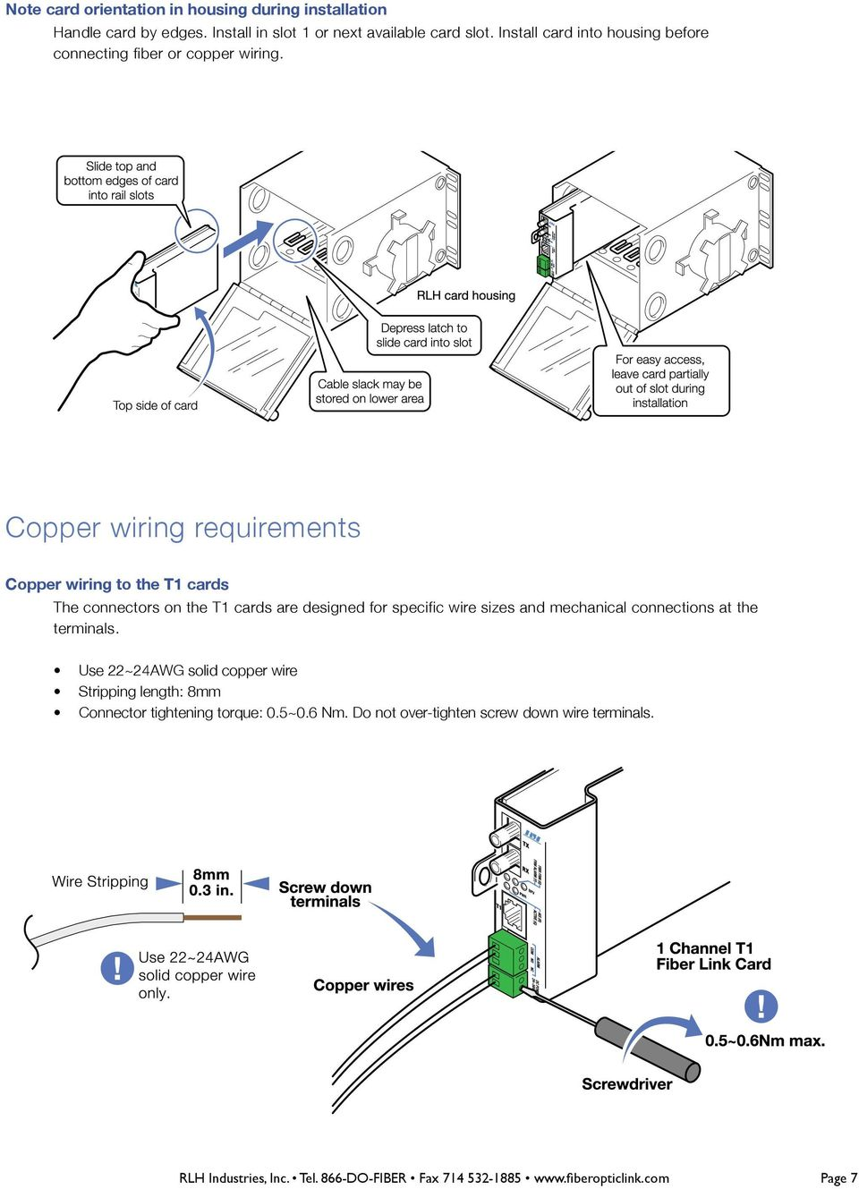 Copper T1 Wiring Diagram For Dummies Libraries Digital Meter Emprendedor Link On Amp Rlh Single Channel Fiber Card System Pdfcopper Requirements To The
